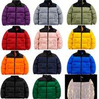 Erkek Aşağı Yastıklı Ceketler Moda Trend Kış Uzun Kollu Fermuar Aşağı Palto Tasarımcı Erkek Sıcak Kuzey Kalın Palto Çiftler Rüzgarlık