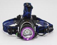 Peças 1800 - 2000 Lumens XM-L XML T6 LED farol farol cabeça lâmpada luz camping iluminação zoomable headlamps