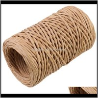 Yarn Clothing Fabric Apparel Drop Delivery 2021 1 Roll 50M Long Floral Art Iron Wire Flowers Gift Wrapping Rope Gardening Winding Fresh Flowe