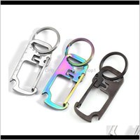 Openers 3 Colors Stainless Steel Chain Multifunction Ruler Keychain Hang Buckle Key Ring Beer Bottle Opener Cyz2952 O41Xi Toprb