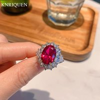 Cluster Rings Charms Real 925 Sterling Silver 10*14mm Ruby Gemstone Party For Women Vintage Wedding Ring Lab Diamond Fine Jewelry Gift