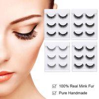 False Eyelashes Makeup 3D Mink Lashes Handmade Reusable Fluffy Soft Wispy Natural Extension