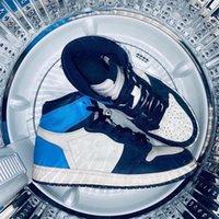 أحذية كرة السلة Jumpman 1S University Us13 Obsidian الأحمر عالية الاستيلاء الحيوي الجنس اختراق الرياضة الخوف الرجال النسائية hyper الملكي unc محطم الباب الخلفي 36-47