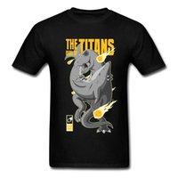 미친 tshirts titans의 결투 재미있는 디자인 상어 대립 100 % 코튼 티셔츠 남자의 큰 판매 만화 티셔츠 소년