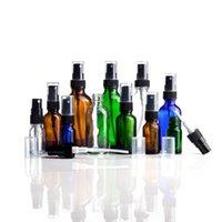 Depolama Şişeleri Kavanoz 24 Adet Paketi Temizle Amber Mavi Yeşil Mini Taşınabilir Cam Sprey Şişesi Laboratuar Testi için, Seyahat Kozmetik Sıvı Parfüm