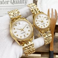 Mens Automatic Gold Mechanical Watches Women Dress Full Stainless Steel Sapphire Waterproof Luminous Couples Wristwatches Montres De Luxe HT71