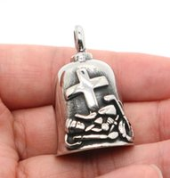 Pendant Necklaces Fashion Mens Cool Motorcycle Cross Polishing Biker Rider Heavy Bell Necklace