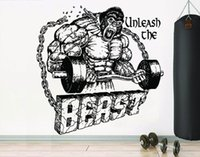 Wall Stickers Gym Decal Fitness Decoration Workout Gorilla Sticker Motivational Poster Bedroom Fan