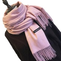 Fashion Women Solid Color Cashmere Scarves With Tassel Lady Winter Autumn Long Scarf Thinker Warm Female Shawl