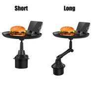 Flexible Car Dining Tray Phone Holders Small Table Travel Adjustable Drink Food Desk Rack Cup Portable Stand
