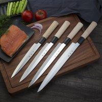 Japanische Hohe Kohlenstoffstahlmesser Fischfilet Sashimi Sushi Schneiden Carving Chef Messer Kühlkochwerkzeuge