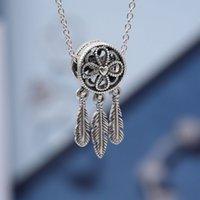 925 Sterling Silver Fishing Net Pendant Necklace CZ Diamond Bright Star Chain Item Original Boxed Pandora Men's and Women's Set Gift