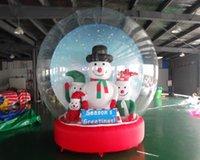 تخصيص خيام قبة نفخ pvc أكسفورد زخرفة عيد الميلاد والملاجئ