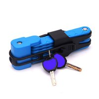 Steel Bikes Security Cable Locks Universal Folding Bicycle Lock Anti-Theft Combination Riding Tool for Mountain Bike