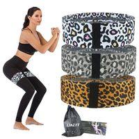 Резистентные полосы Booty Обучение Леопардовый петли ткани расширитель эластичной резинки для домашнего хип йоги тренировки фитнес оборудование