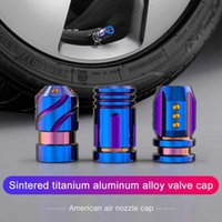 2pcs Casquettes pour pièces de pneu Pièces extérieures en alliage d'aluminium Valve colorée Valve métallique Moyenne anti-poussière