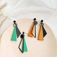 Корейский длинный заявление Геометрические треугольники Tassel Down Down Серьги для женщин Серьги Мода Ювелирные Изделия Oorbellen Brincos