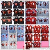 NCAA Vintage 75th Retro College Football 80 Jerry Riso Jersey Cucita 33 Roger Craig 42 Ronnie Lott Dwight Clark Jerseys Rosso Bianco Bianco