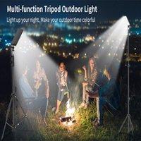 Camping ao ar livre multifuncional levou luz portátil usb recarregável tripé ajustável ip65 impermeável brilho lanternas