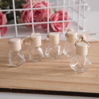 Hanging Glass Bottle For Essential Oils Air Freshener Container Crystal Glass Perfume Pendant Car Perfume Empty Bottle DWB6801