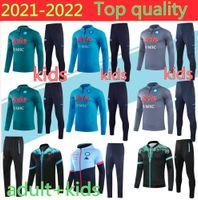 2020 Napoli Trainingsanzug Hamsik Insignente Callejon Zielinski 20/21 Männer + Kinder Neapel Lange Reißverschluss Jacke Set Soccer-Anzug
