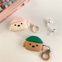 Cute Teddy is suitable for air pods Pro protective silicone Bluetooth headset sleeve Airpods 3 generation