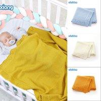 Cobertores de bebê de malha recém-nascido Swaddle Envoltório Berço Super Macio Criança Infantil Carrinho de Criança Sofá Cama de dormir 100 * 80cm 983 x2