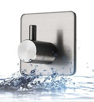 304 gancho de aço inoxidável forte porta adesiva nail-free quadrado quadrado traceless parede parede suspensão hole gancho de suspensão livre