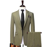 Men's Suits & Blazers Men Tailor-Made Tuxedo Double Breasted Pants For Party Singer Groom Wedding Male Prom Business 2 Pieces