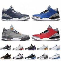 Zapatos de baloncesto Jumpman 3 zapatillas deportivas Georgetown unc Cour Púrpura 3s Retroes Varsity Royal Cool Grey Knicks Rivals Ture Blue Entrenadores Hombres al aire libre
