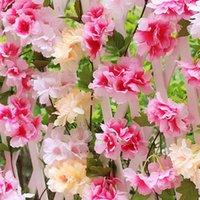 Fleurs décoratives Couronnes Soie Fake Guirlande Artificielle Cherry Blossom Vigne Sakura Party Partie De Mariage Plafond Decor Arch DIY