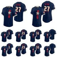 Houston 55 Ryan Prescly Astros Jerseys 27 Jose Altuve 10 Yuli Gurril 1 Carlos Correa 2 Alex Bregman 21 Zack Greinke Бейсбол на заказ 2021 All-Star Game Jersey