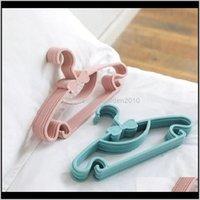 & Racks 20Pcs Lot Portable Hanger Children Toddler Baby Clothes Coat Plastic Hangers Hook Household Kids Clothing Organizer V8N2E Qxsfm
