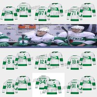 Toronto Ahornblätter Jersey 36 Jack Campbell 71 Foligno 91 John Tavares 34 Auston Matthew 16 Marner 97 Thornton St. Pats Hockey Trikots