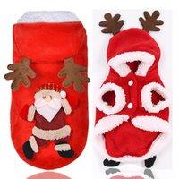 Dog Apparel Pet Warm Christmas Clothes Santa Claus Elk Design Coat For Chihuahua Yorkshire Cat Clothing Jacket Pets Costume
