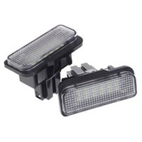 Car Headlights 2 Pcs No Error 18 LED SMD License Plate Light For W203 W219 R171