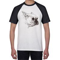 Köpek Grafik Komik Raglan Tshirt Erkekler Vintage Hip Hop Üst Yaz Tee Gömlek Kısa Kollu T Giyim Gevşek Hipster Harajuku Erkek T-Shirt