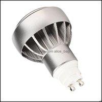 Светодиодные лампы лампочки лампы LightingGx10 12W 20 Spotlight 1200LM 45 Угол луча GX10 Легкая лампочка Drop Доставка 2021 KSA7G