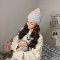 Sonbahar Kış Yeni Sezon Kulak Kap Öğrenci Yün Kontrast Örme Sıcak Erkekler Ve Kadınlar Baotou Şapka Renk Soğuk R1PG