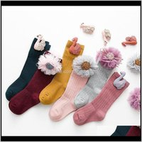 Clothing Baby, Kids & Maternity Canis Baby Girl Knee High Flower Bows Princess Socks Cute Long Tube Booties1 Drop Delivery 2021 2Ntqb