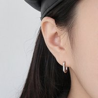 Hoop Earrings U- Shaped Smooth Surface Minimalist Geometry Pu...