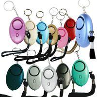 130db Egg Shape Self Defense Alarm Girl Women Security Protect Alert Personal Safety Scream Loud Keychain Alarms GWB10279
