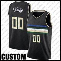 Özel Milwaukee Basketbol Takımı Jersey DIY Dikişli Ad Numarası Kazak Boyutu S-XXL DAD651GN