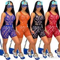 2021 Sommer Frauen Trainingsanzüge Solide Farbe Zwei Teile Shorts Set Outfits Sexy Cross Cut Tops Kurze Hosen Jogger Anzüge Damen Casual Kleidung S-XXL