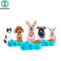 Пластиковые PET двойные кормления миски кошка собака двойное использование автоматического питателя пьющие чаши воды для животных щенок блюдо