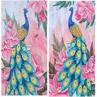 Diamond Painting Special Shaped DIY 5D Partial Drill Cross Stitch Peacock Crystal Rhinestone Of Picture Embroidery