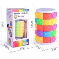 3D girar a torre de quebra-cabeça de corrediça torre cubos mágica torre brinquedos deslizantes cilindro educacional inteligência jogo mental para crianças crianças 4966