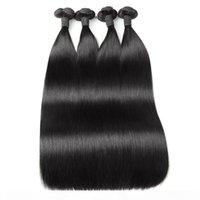 Ishow Funmi Cheveux 100A Double dessinés Bundles de cheveux Humains droits 3 4Bundles Péruviennes Brésiliennes Péruviennes Péruviennes Extensions de cheveux indiens