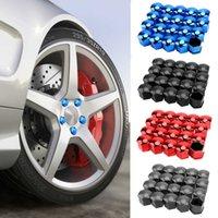 17mm 20 peças de carro da roda de carro tampas de proteção tampas de tampas anti-ferrugem auto hub parafuso capa carro pneu pneu porca parafuso decoração exterior