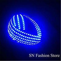 Party Decoration TK05 RGB Light Led Costumes Men Luminous Glowing Robot Helmet Ballroom Costume Dj Disco Club Dance Wear